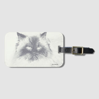 Cat Luggage Tag with Business Card Holder