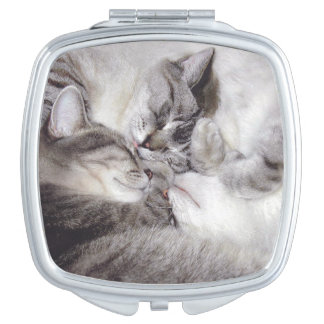 """""""Cat Luv #11"""" Compact Mirror"""