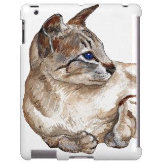 cat lying down iPad case