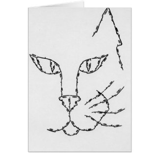 CAT made of Faces Card
