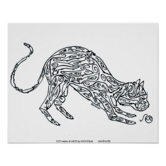 CAT made of MICE by NICHOLAS       MINI... Poster