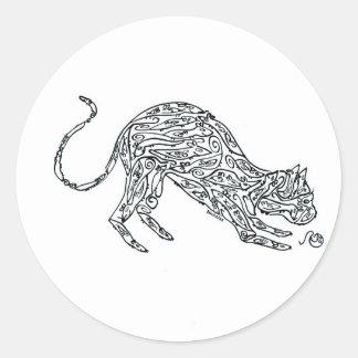 Cat made of Mice Classic Round Sticker