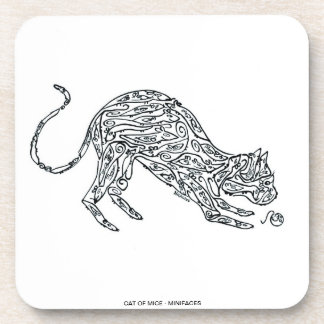 CAT - Made of MIce Drink Coaster