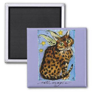 Cat magic fairy fantasy ocicat magnet