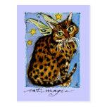 Cat Magic Ocicat with Fairy Wings Post Cards