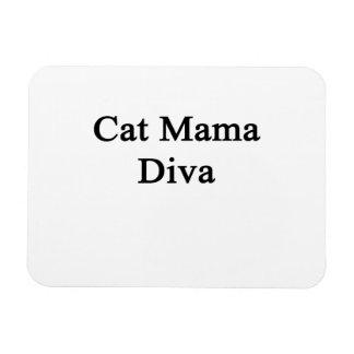 Cat Mama Diva Rectangular Photo Magnet