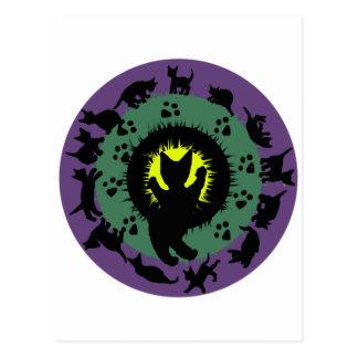 Cat Mandala Post Card