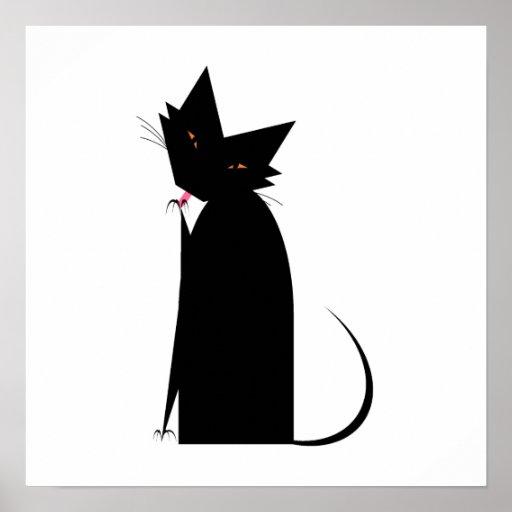 Cat Manicure Poster