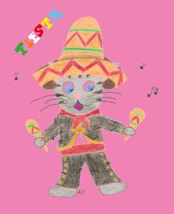 60e1722b77689 Cat mariachi pink all-over print Cinco de Mayo Tank Top