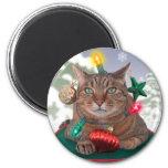 Cat-mas Tree Christmas Magnet