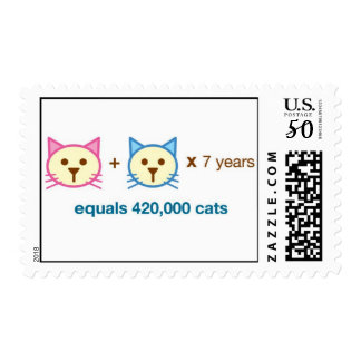 cat math stamp