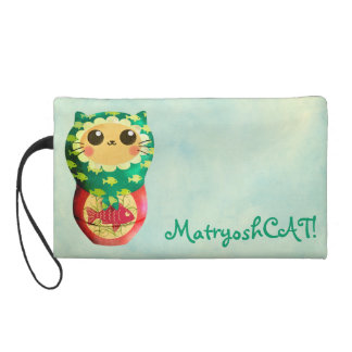 Cat Matryoshka Doll Wristlet Clutches