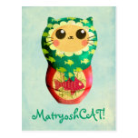 Cat Matryoshka Doll Post Card