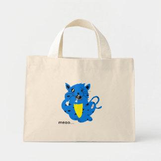 cat, meao... mini tote bag