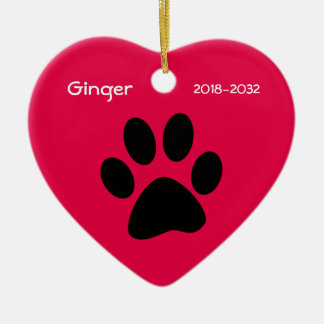 Cat Memorial Christmas Ornament