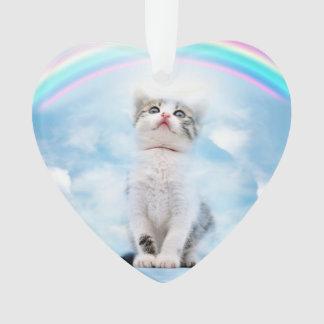 Cat Memorial Custom Heart Ornament