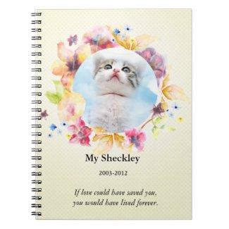 Cat Memorial Custom Photo Journal Notebook