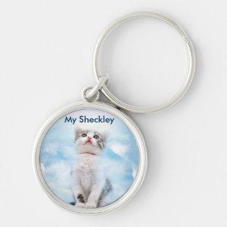 Cat Memorial Premium Round Keychain