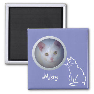 Cat Memory Add a Photo - Sweet Custom Pet Memorial Magnet