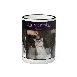 Cat Mentality Ringer Mug
