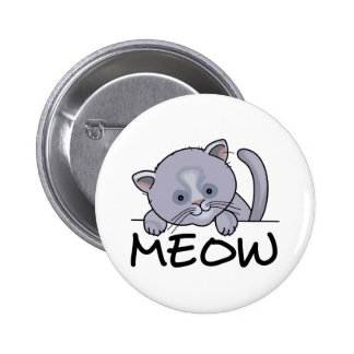 CAT MEOW 2 INCH ROUND BUTTON