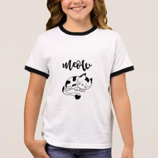 Cat Meow Ringer T-Shirt