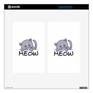 CAT MEOW DECAL FOR KINDLE FIRE