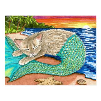 Cat Mermaid 23 Postcard
