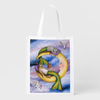 Cat Mermaid 29 Grocery Bags