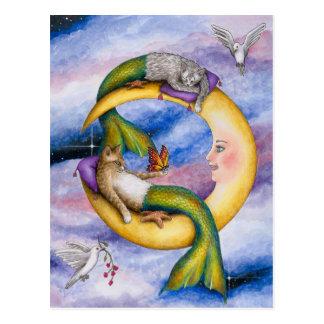 Cat Mermaid 29 Postcard