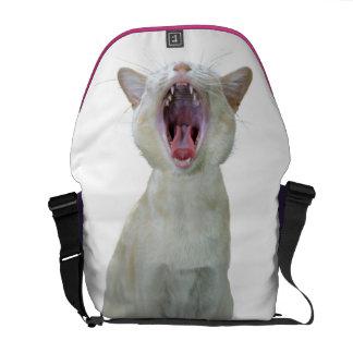 Cat messenger bag -  minus paw print
