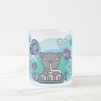 Cat_Method 10 Oz Frosted Glass Coffee Mug