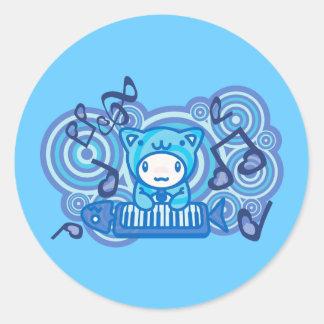 Cat_Method Classic Round Sticker