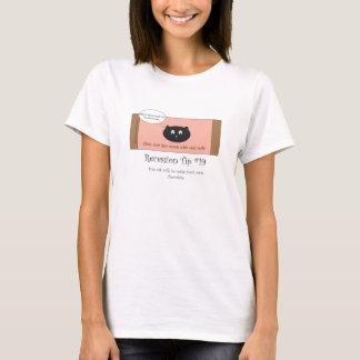 Cat milk chocolate bar women's T-shirt