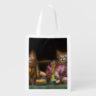 Cat - Mischief makers 1915 Reusable Grocery Bag