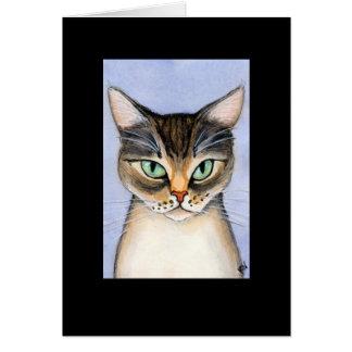 Cat misses you card
