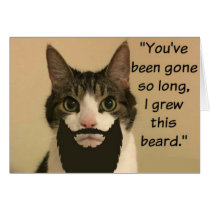 Cat Missing you Card