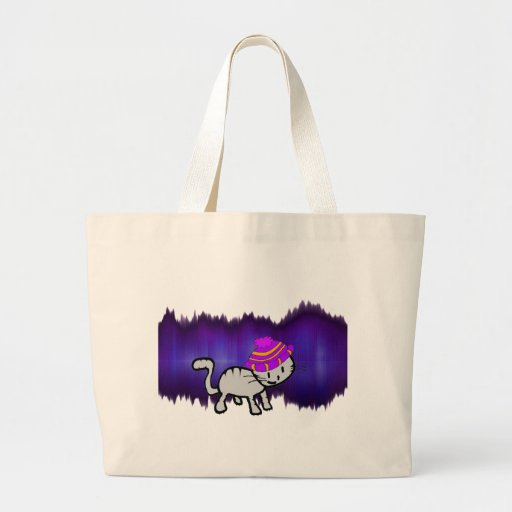 Cat Modeling A Hat Striking The Pose Tote Bag