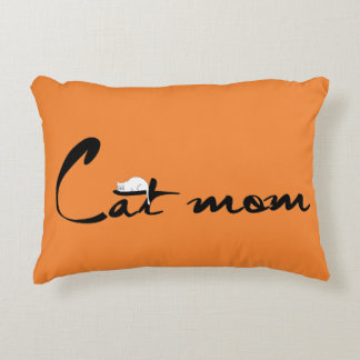 Cat mom accent pillow