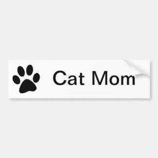 Cat Mom Bumper Sticker