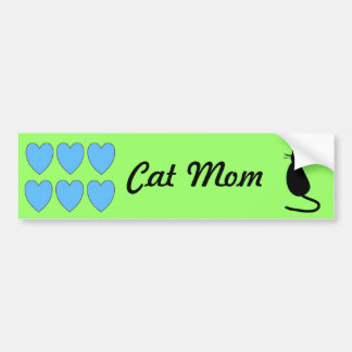 """Cat Mom"" Bumper Sticker"