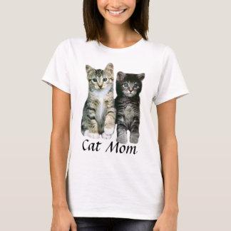 Cat Mom Kittens Ladies T-Shirt