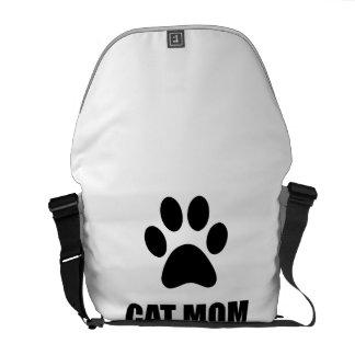 Cat Mom Paw Messenger Bag