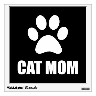 Cat Mom Paw Wall Decal