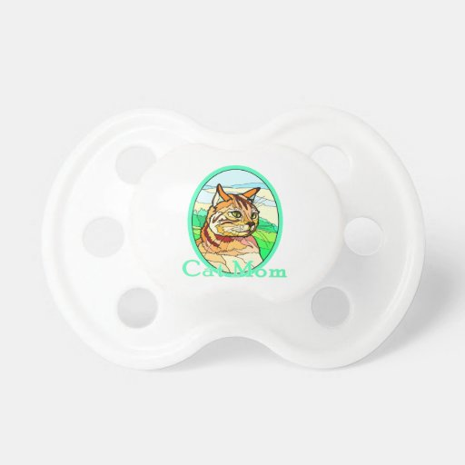 Cat Mom Stained Glass 1 Pacifiers