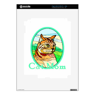 Cat Mom Stained Glass 1 iPad 2 Decals