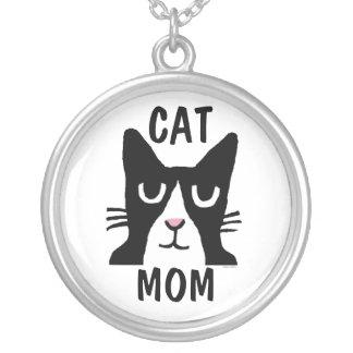 CAT MOM Tuxedo Cat Necklace