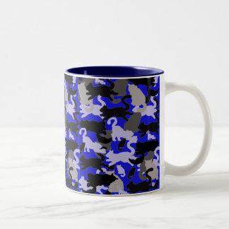 cat montage Two-Tone coffee mug
