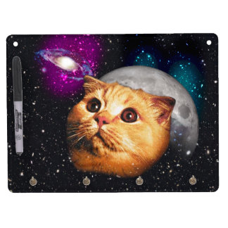 cat moon ,cat and moon ,catmoon ,moon cat dry erase board with keychain holder