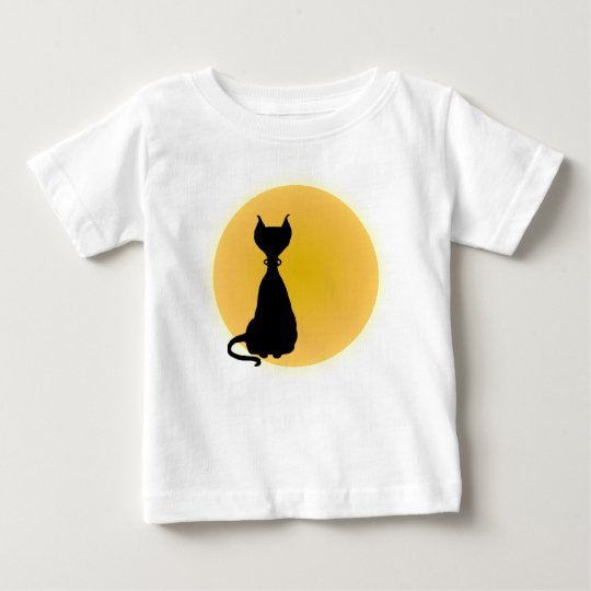Cat & Moon Fun Kitty Cartoon for Babes Shirt